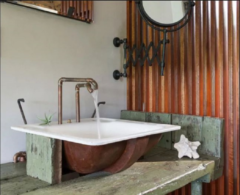 Industrial style sink