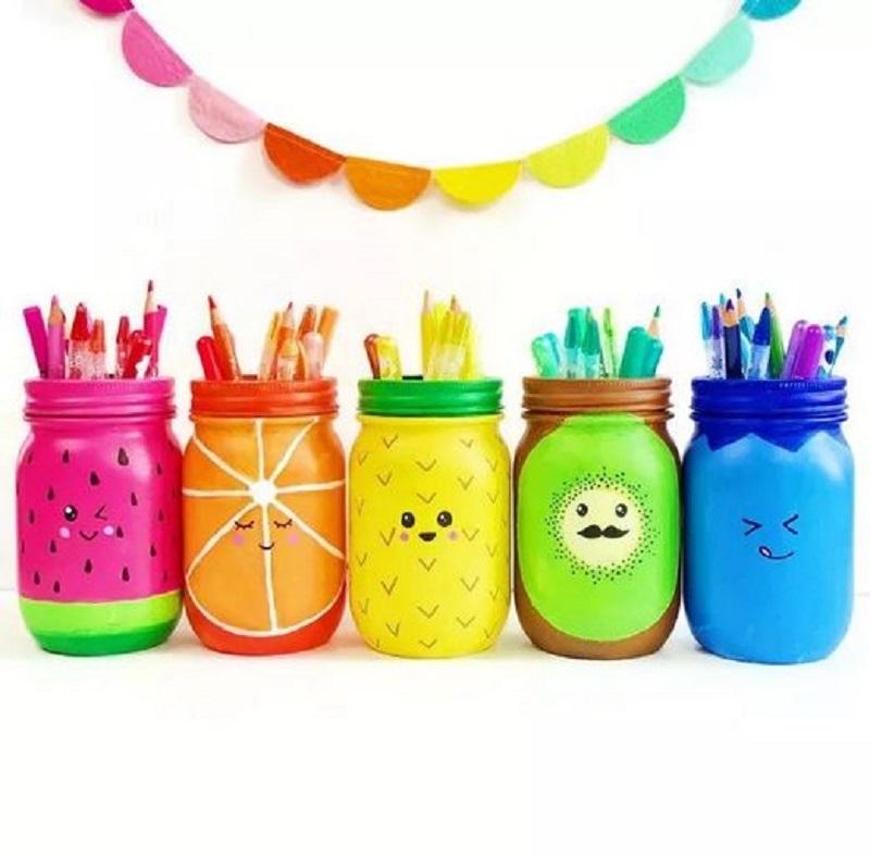 Mason jar fruits