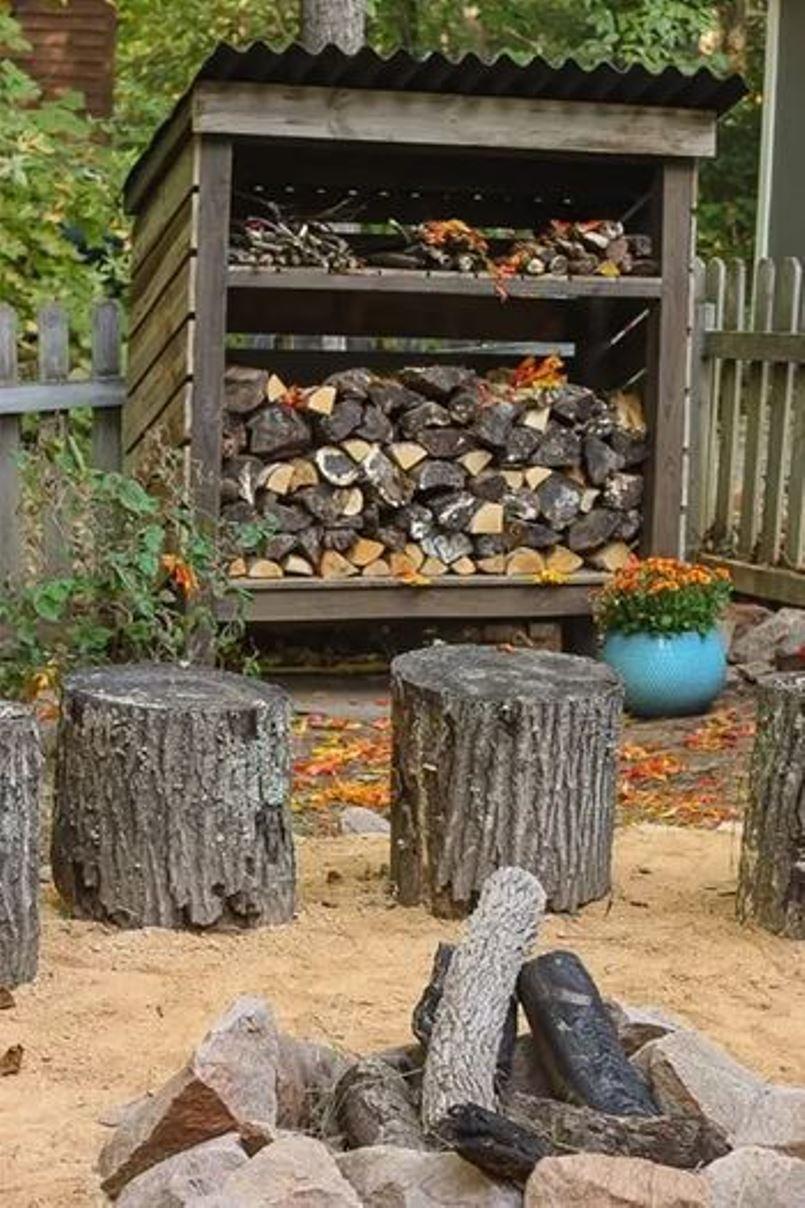 Outdoor wooden storage
