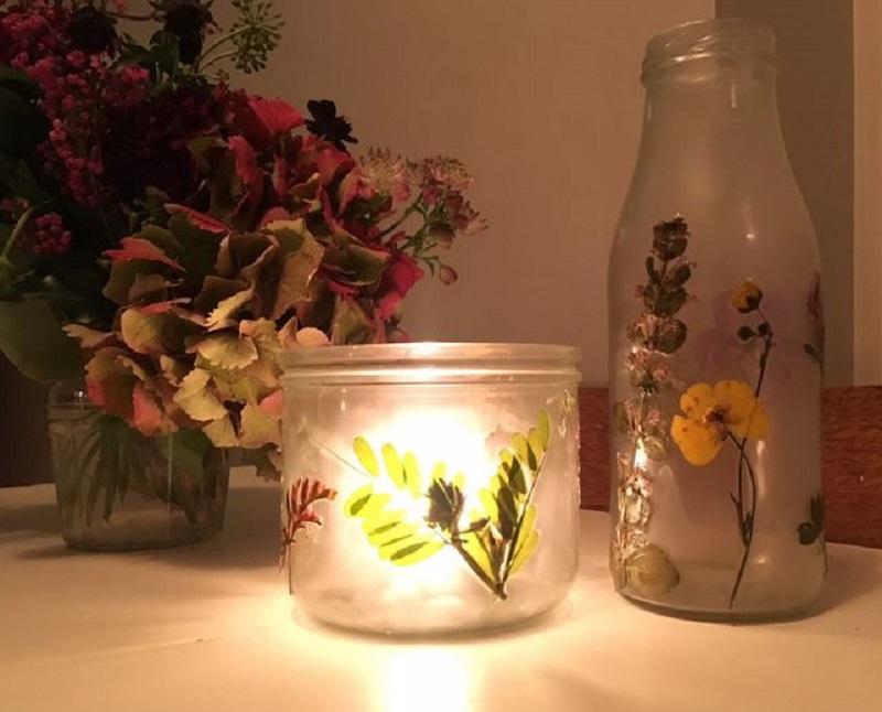 Press flowers for vase