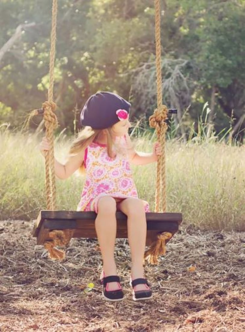 Rustic tree hanging chair