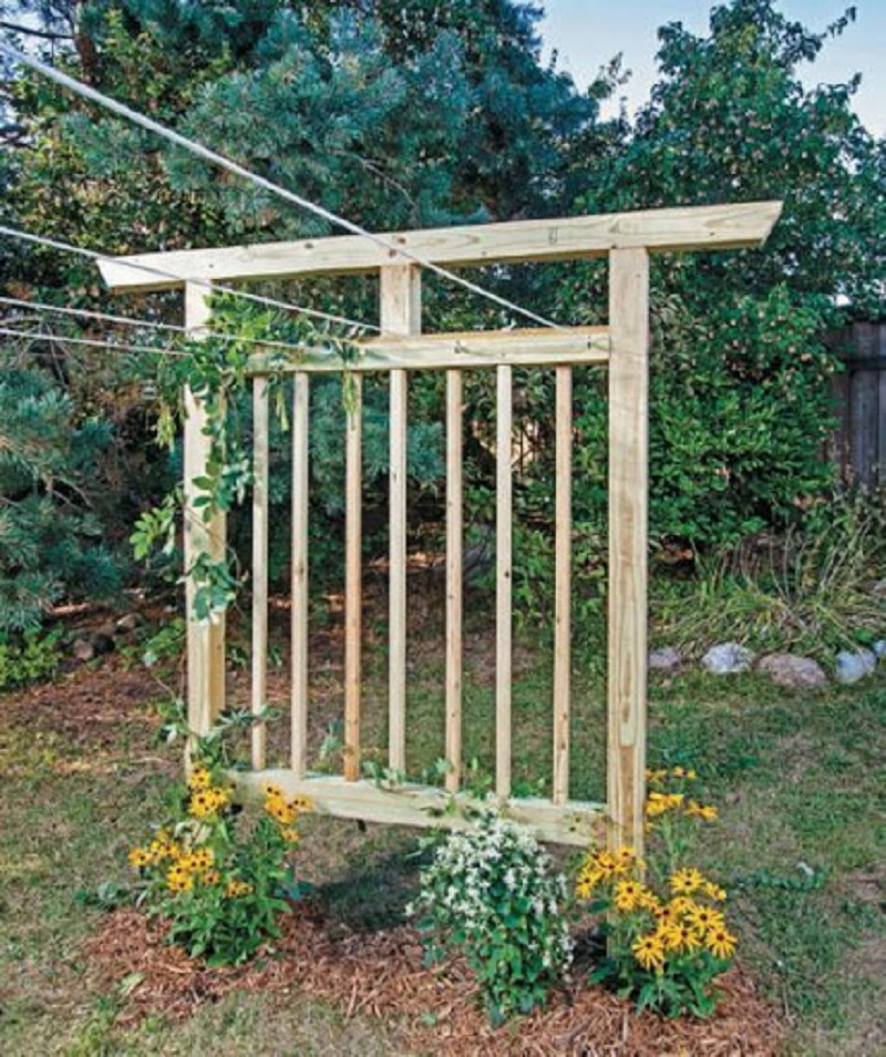 Trellis clothesline DIY Saving Money Ideas Of Clothesline To Hang Dry Your Clothes