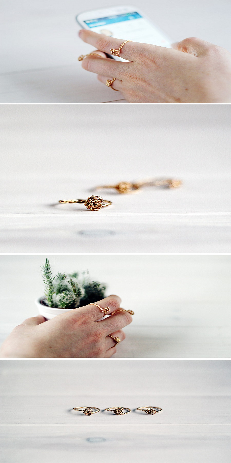 Twisted knot rings DIY Captivating Ring Ideas To Add More Gorgeous Collection
