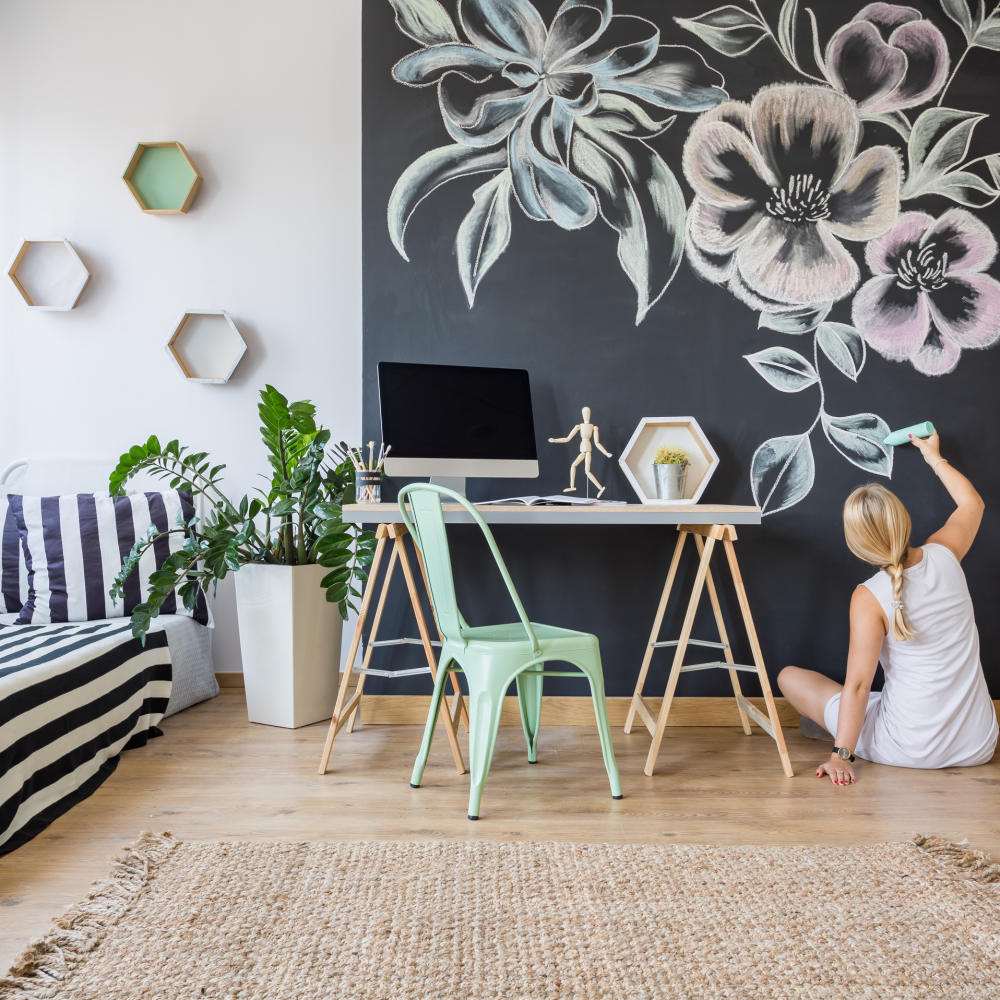 Use the chalkboard wall Appealing DIY Ideas To Paint On Blank Wall Where Teenage Can Do