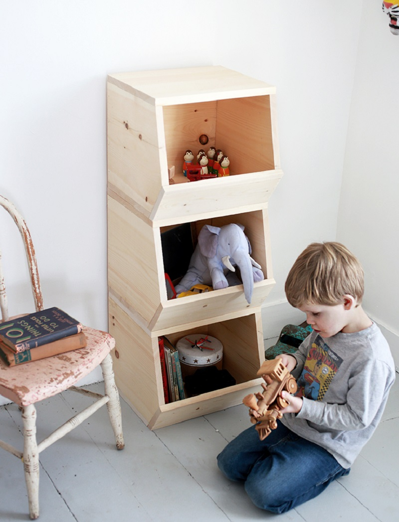 Diy wood toy bins Best DIY Ideas As Solutions To All Your Boys Room Décor Dilemmas
