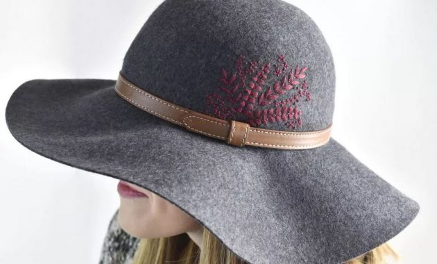 Embroidered flower on a hat
