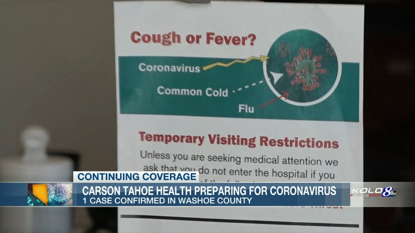 COVID-19 Updates: Third potential Washoe County case reported