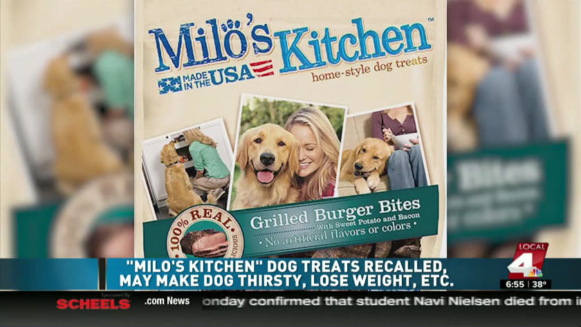 milos kitchen 42 cabinets two types of milo s dog treats recalled
