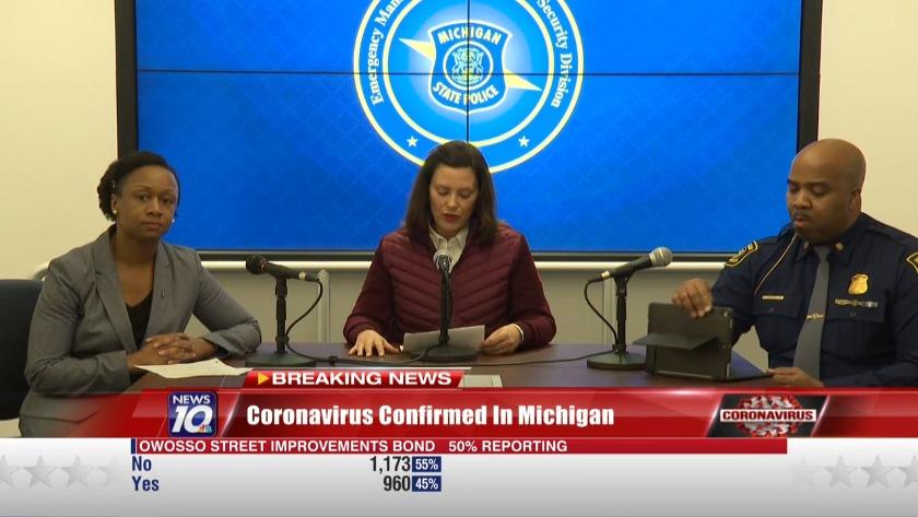 Gov. Whitmer declares state of emergency following two coronavirus ...