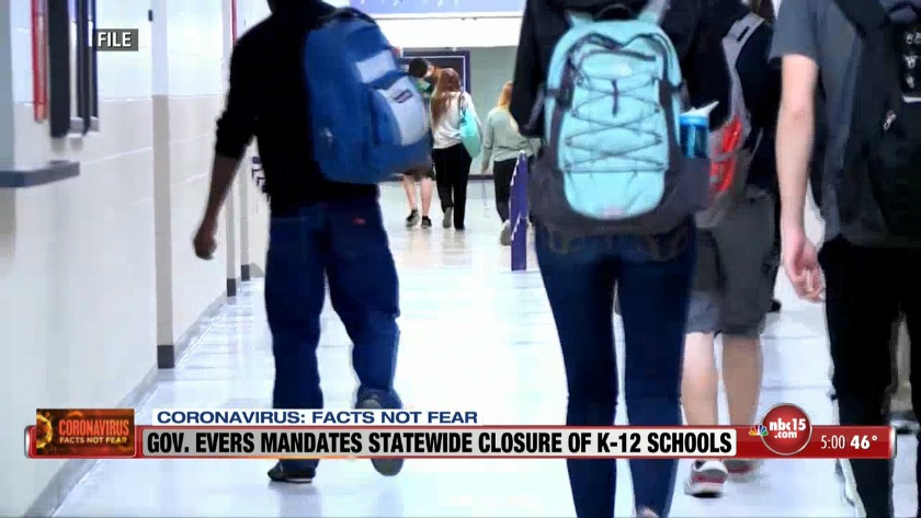 Evers orders all Wisconsin K-12 schools to close in response to ...