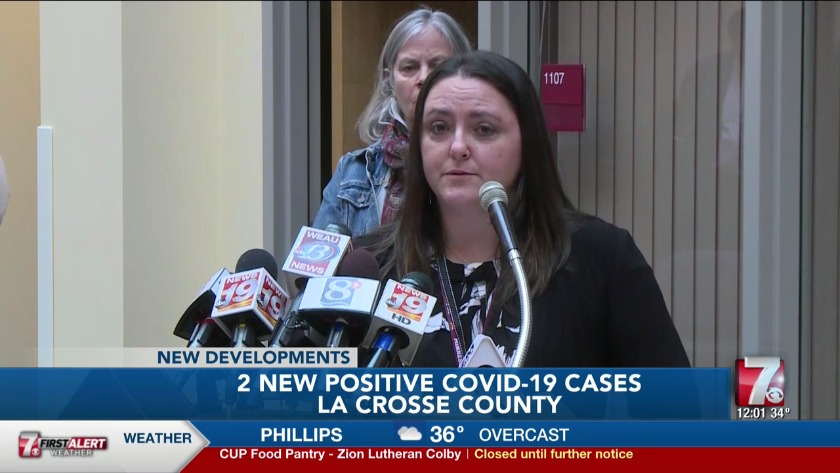New COVID-19 cases in Wisconsin include first 2 in LaCrosse County