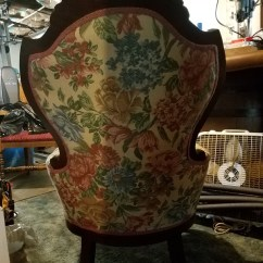 Antique Queen Anne Chair Ottoman And Victorian Value