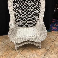 Fan Back Wicker Chair Small Round Dining Table And Chairs Gleaton S The Marketplace Auction Pair Large Item Vintage While Porch Perfect Order Treasure