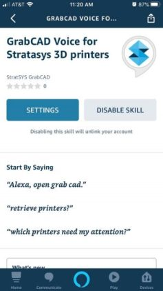 GrabCAD Voice on Alexa Devices