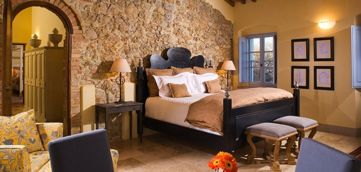 Tuscan Style Homes Interior Design Italy Wrought Iron Bedroom Nightstand Countryside Villa Arch Wooden Ceiling