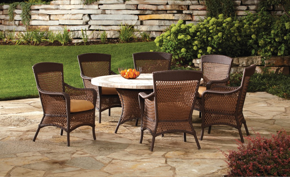 vinyl wicker chairs swivel chair stool collection lloyd flanders premium outdoor furniture in all grand traverse