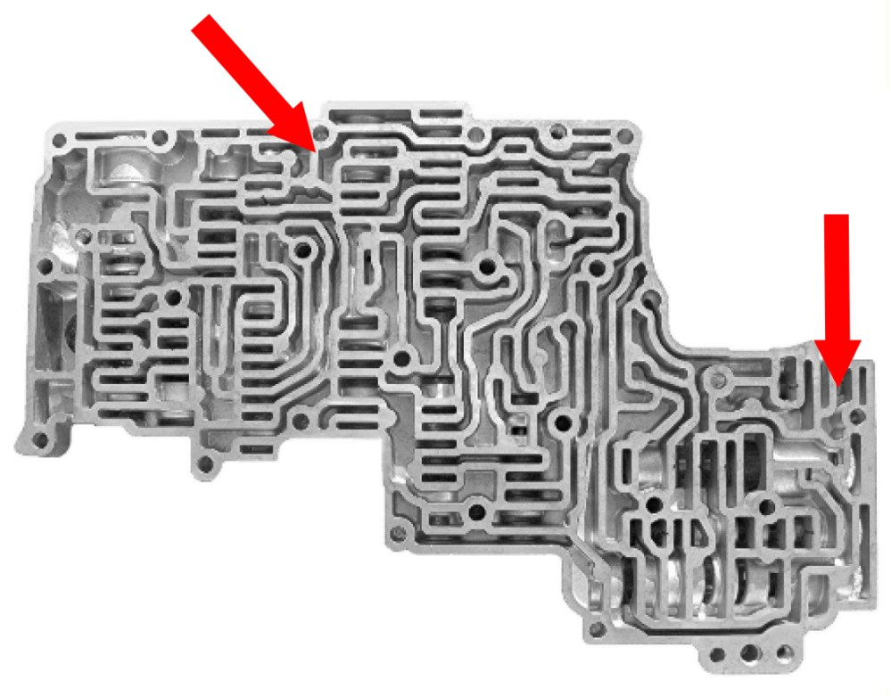 medium resolution of yellow circles indicate where changes occurred in the separator plate