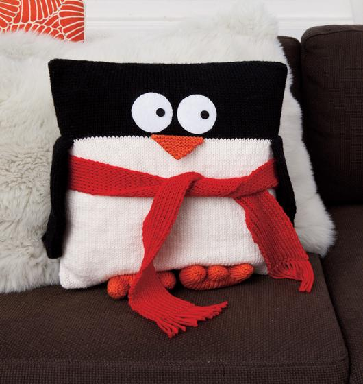Penguin Pillow  Knitting Patterns and Crochet Patterns