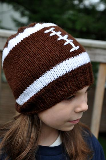 Football Hat Knitting Patterns and Crochet Patterns from