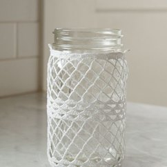 Kitchen Cotton Yarn Elkay Sink Crocheted Ball Jar Cozies - Knitting Patterns And Crochet ...