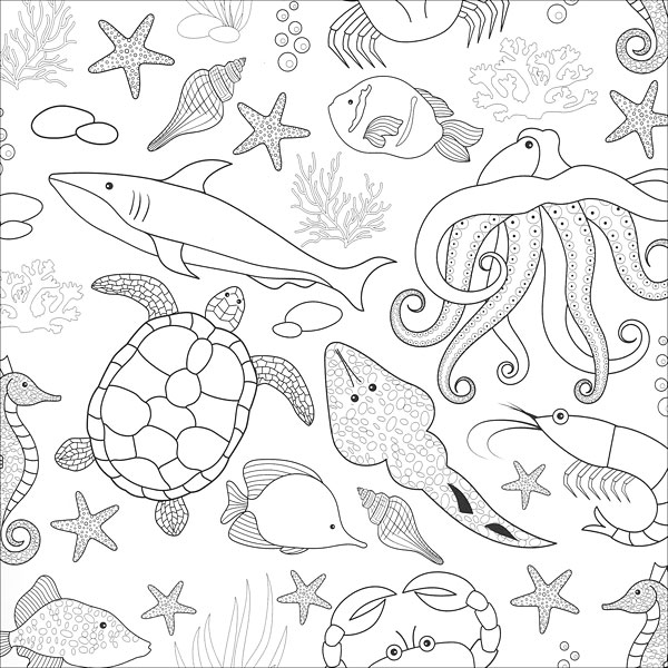 Zen Coloring: Ocean from KnitPicks.com Knitting by Guild