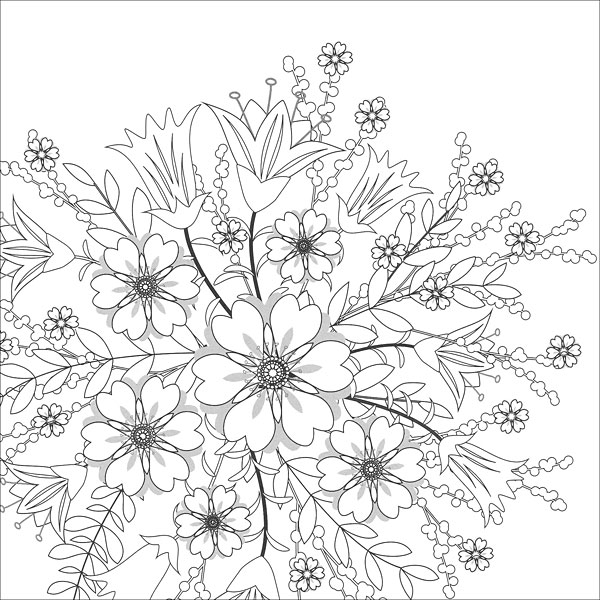 Zen Coloring: Flowers from KnitPicks.com Knitting by Guild