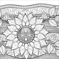 Zen Coloring: Flowers from KnitPicks.com Knitting by Guild ...