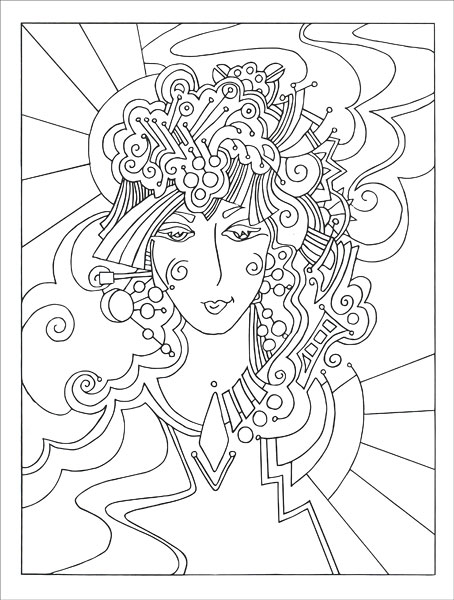 Hidden Faces Coloring Book from KnitPicks.com Knitting by