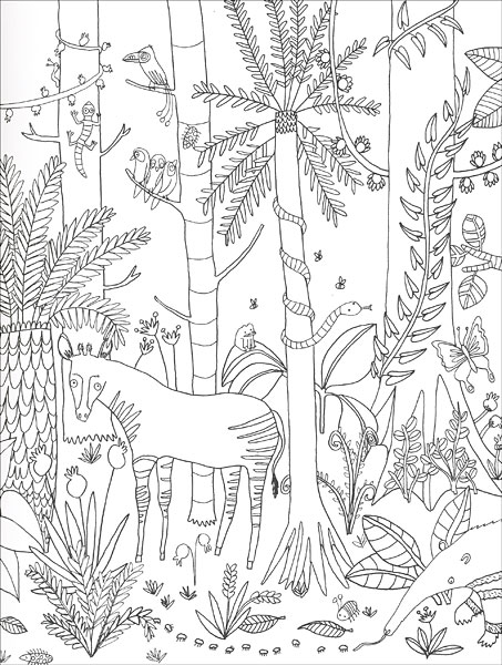 Jungle Paradise: A Coloring Escape Into the Wild from