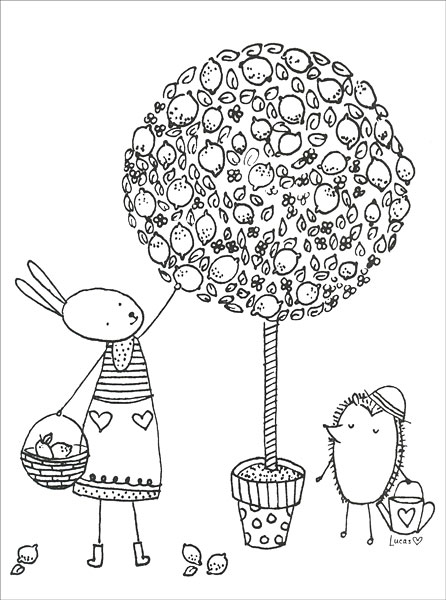 The Magical Garden Coloring Book from KnitPicks.com