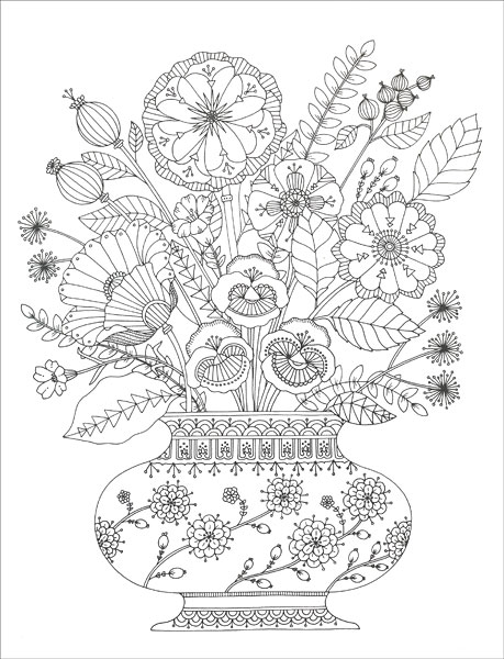 Birds and Botanicals Coloring Collection from KnitPicks