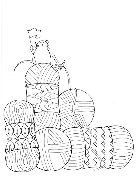 I Dream of Yarn: A Knit and Crochet Coloring Book from