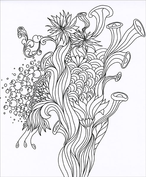 Keepsake Coloring Kit: Tranquility from KnitPicks.com