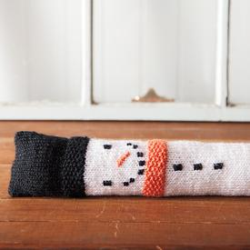 Snowman Draft Stopper by Knit Picks #Christmas #knits