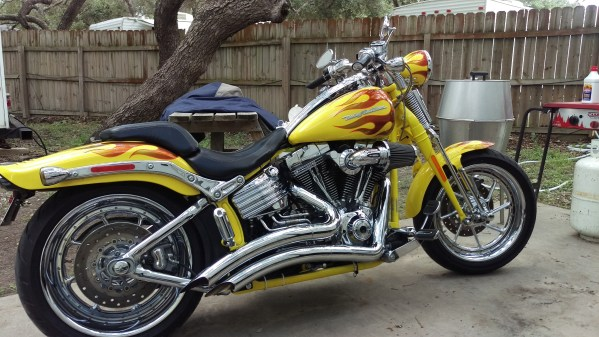 2009 Harley-davidson Custom Yellowithburnt Orange Flames