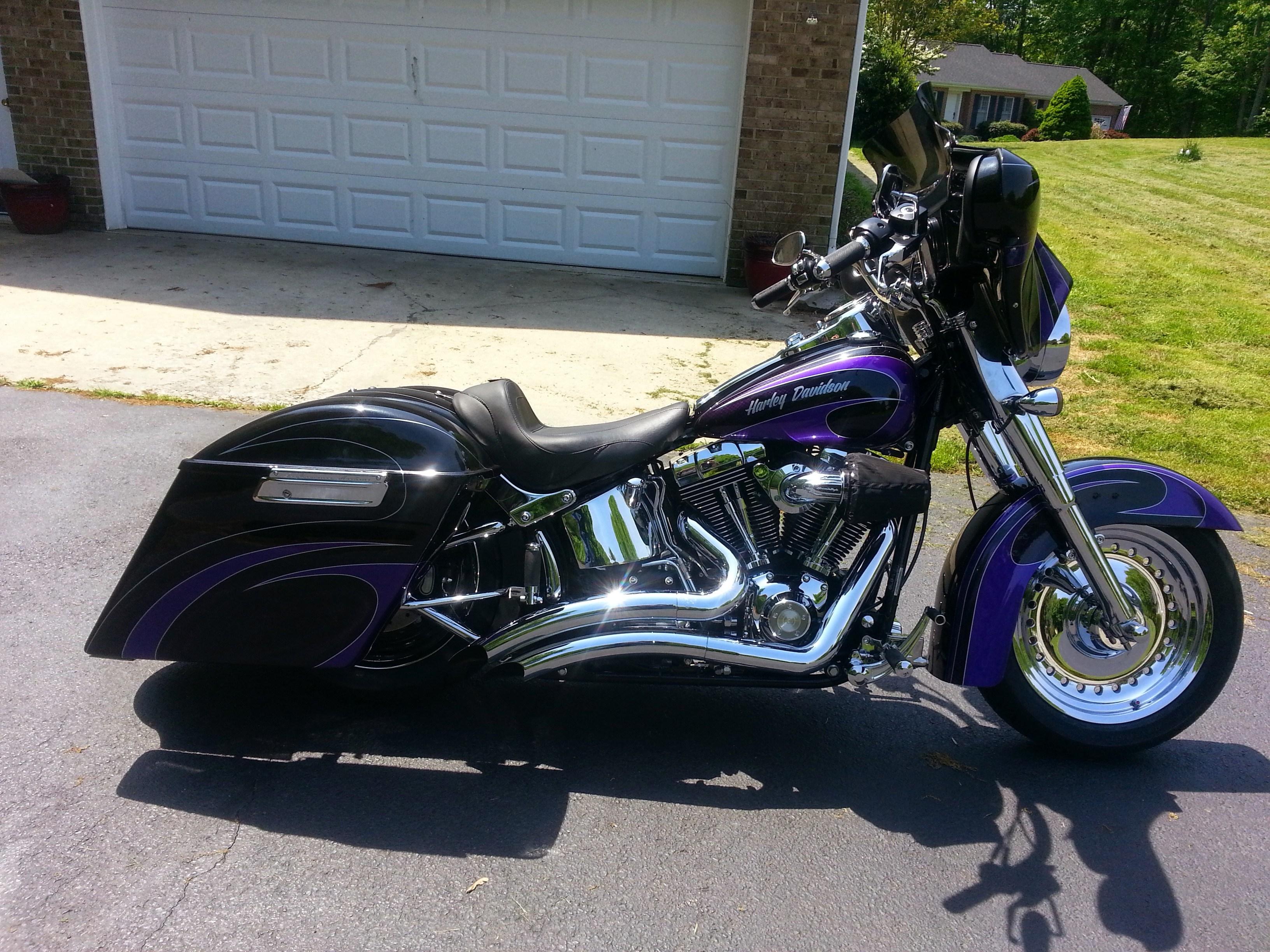 headlight switch motorcycle rv monitor panel wiring diagram 2009 harley-davidson® flstf softail® fat boy® (tuxedo black/ perfect purple custom graffics ...
