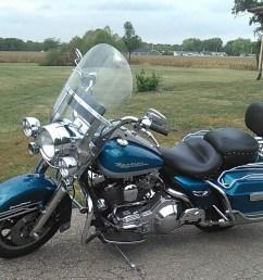 1994 harley davidson flhr road king aqua pear silver danville illinois 762653 chopperexchange [ 1159 x 950 Pixel ]