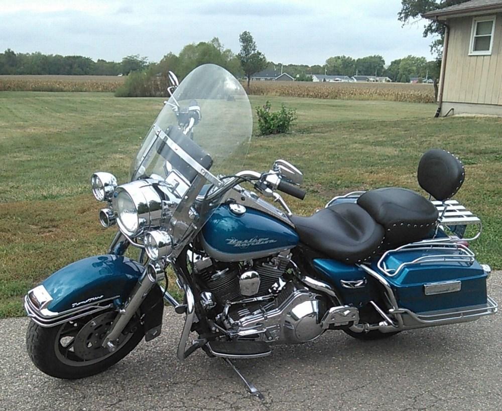 medium resolution of 1994 harley davidson flhr road king aqua pear silver danville illinois 762653 chopperexchange