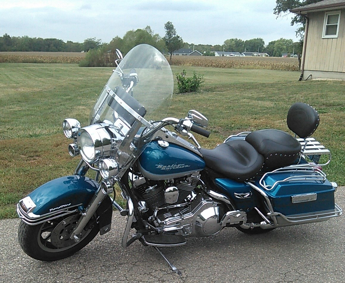 hight resolution of 1994 harley davidson flhr road king aqua pear silver danville illinois 762653 chopperexchange