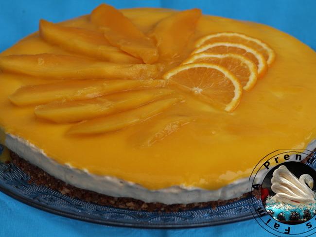 gateau sans cuisson mangue orange avec magimix