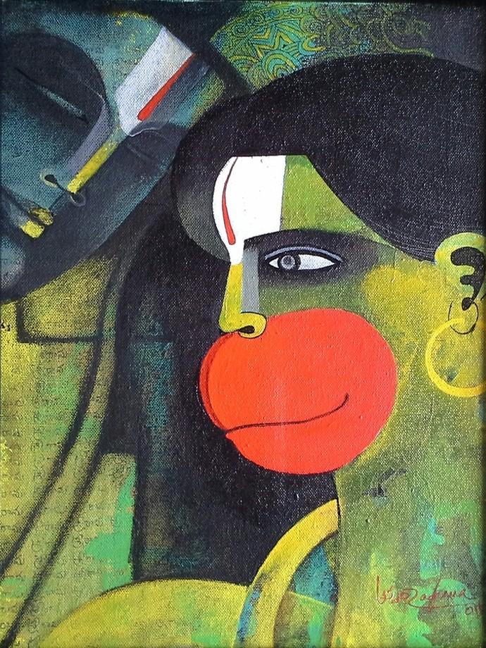 kitchen rolling cart aid accessories rama & hanuman by artist appam raghav – , painting ...