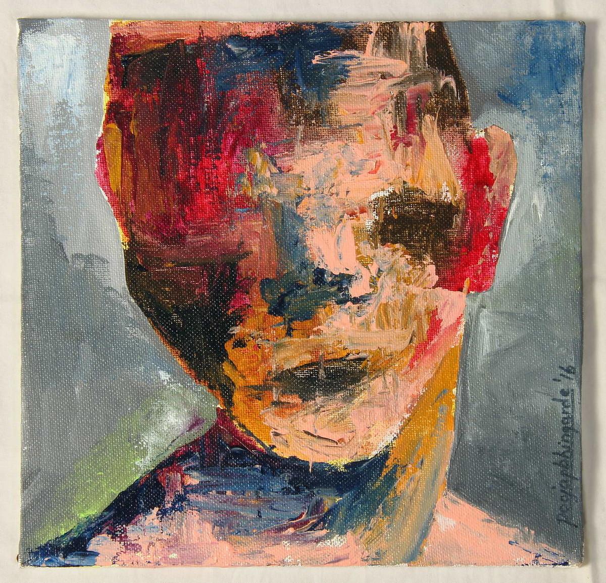 Distorted Identity Artist Pooja Bhingarde Expressionism Painting Mojarto 217388
