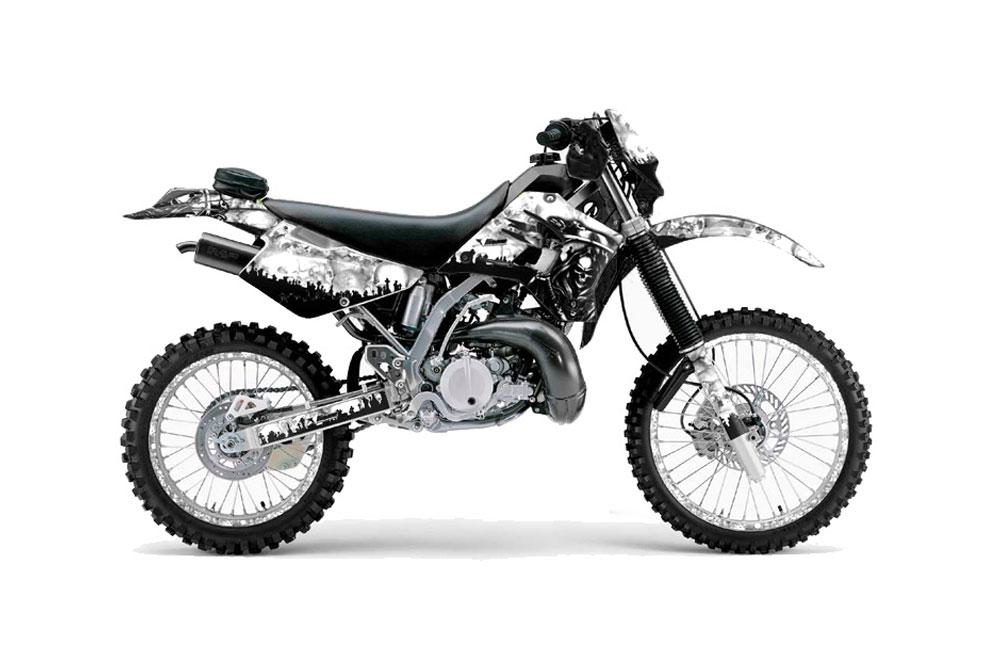 Kawasaki KDX200 Dirt Bike Graphics: Reaper White MX