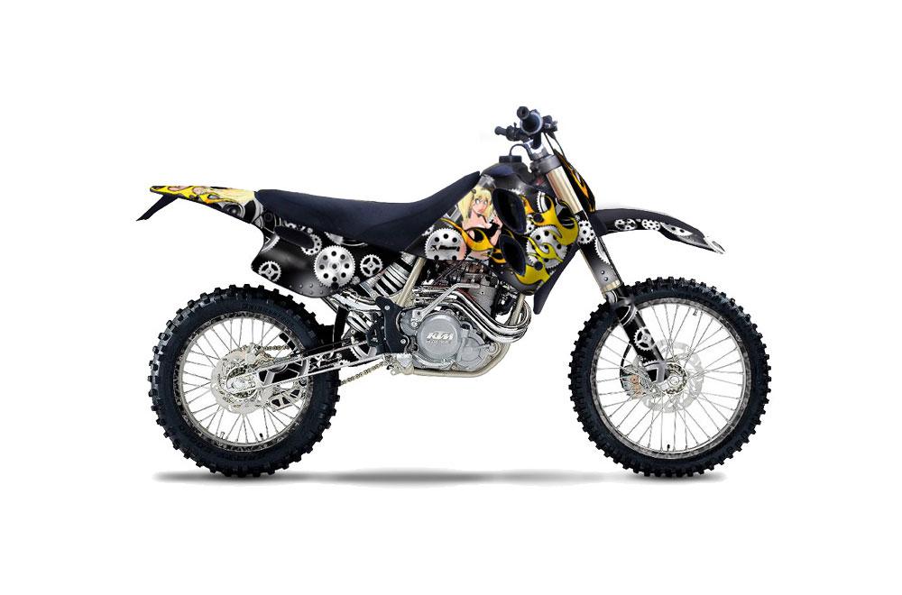 KTM C0 SX 4 Stroke Dirt Bike Graphics: Motorhead Mandy