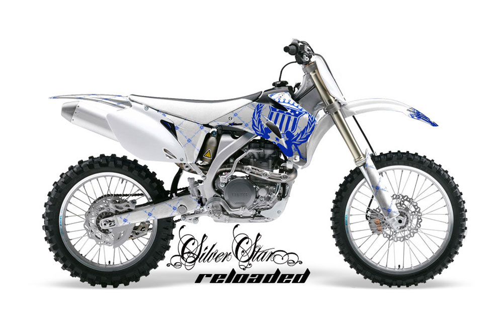 Yamaha YZ250 F 4 Stroke Dirt Bike Graphics: Silver Star