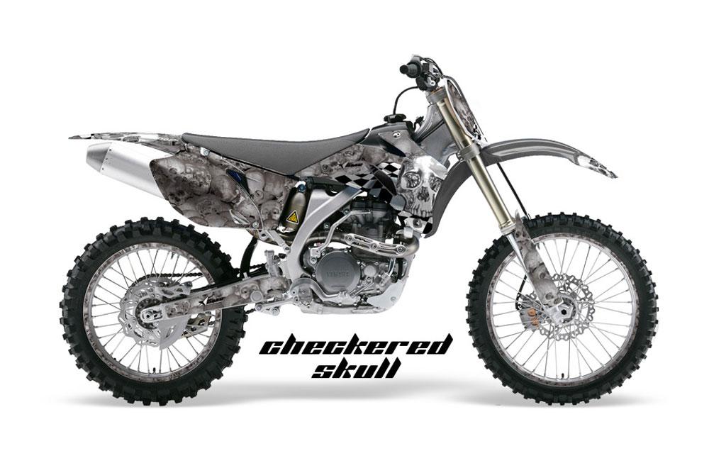 Yamaha YZ450 F 4 Stroke Dirt Bike GraphicsCheckered Skull