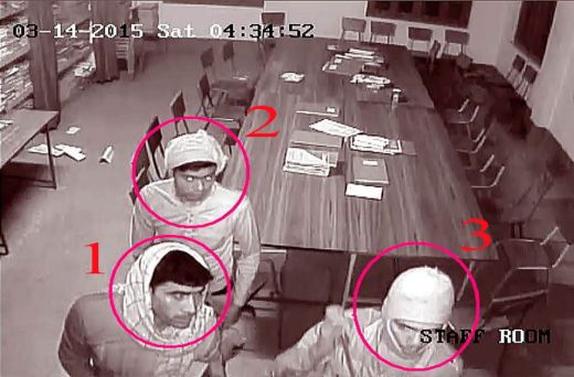 A still image taken from CCTV footage provided by the West Bengal Police. Photo: UNI
