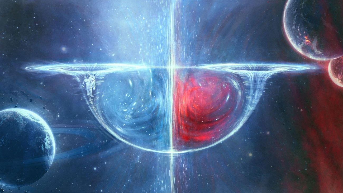 Wormhole  الشق الدودي- wormhole السفر عبر الزمن..
