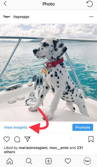 Access individual posts Instagram Insights
