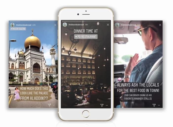Instagram Stories for travel being put to good use by The Blonde Abroad